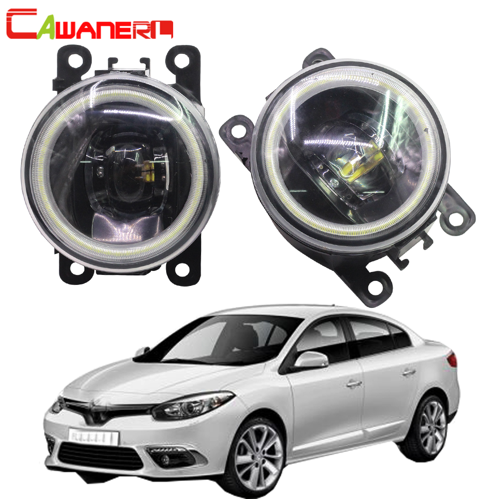 Cawanerl For Renault Fluence L30 Saloon 2010 2011 2012 2013 2014 2015 Car Styling LED Bulb Fog Light Angel Eye DRL 12V 2 Pieces 2x for renault megane 2 saloon lm0 lm1 2003 2015 car styling ccc high power led fog lamps halogen lights