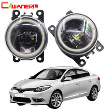 Cawanerl For Renault Fluence L30 Saloon 2010 2011 2012 2013 2014 2015 Car Styling LED Bulb Fog Light Angel Eye DRL 12V 2 Pieces(China)