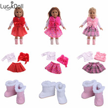 Luckdoll handmade new doll 3 pieces doll clothes suitable fit 18-inch American  doll accessories children's best means gift doll clothes accessories white down jacket fit 18 inch american girl doll clothes best gift for