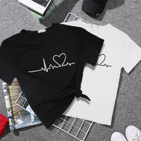 2019 New Harajuku Love Printed Women T-shirts Casual Tee Tops Summer Short Sleeve Female T shirt for Women Clothing