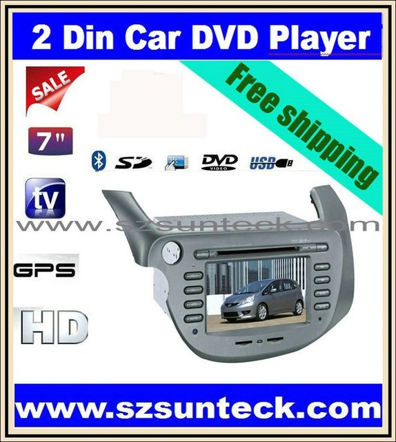 2011 hot selling car dvd player using for HONDA Fit Jazz with 7 inch high display