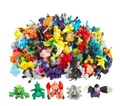 144pcs/Lot Pokeball Pikachu Anime Mini Random Poke Monsters  Action Figures Poke Ball Pokecard Kids Toy Gift