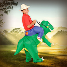 Boys Girls Inflatable Dinosaur Costume Halloween Christmas Party Cosplay Outfit Air Blown Suit Kid Carnival Dress Purim Clothes