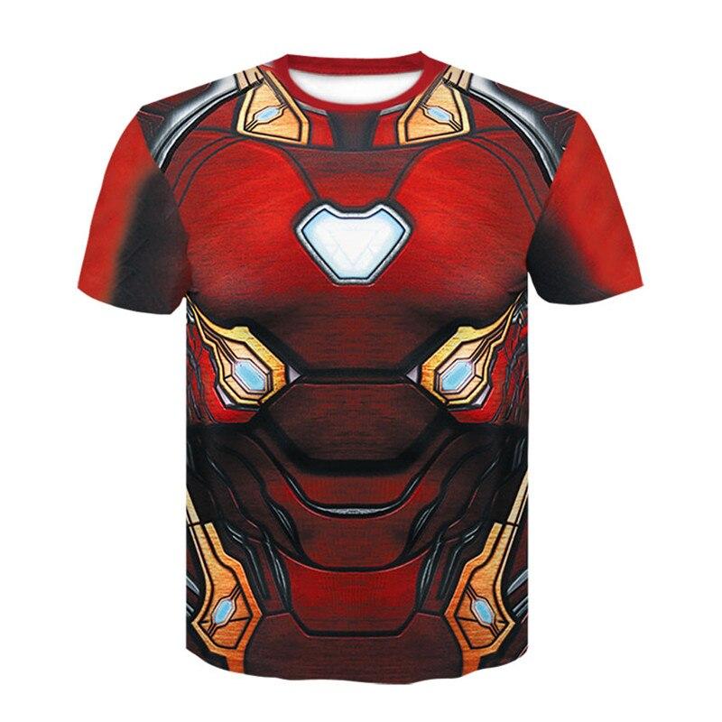 Avengers T-shirt Ironman Captain America Fer hommes Hawkeye Noir veuve Marvel T-shirt Super hero Custom Made 3D Impression Tee chemise