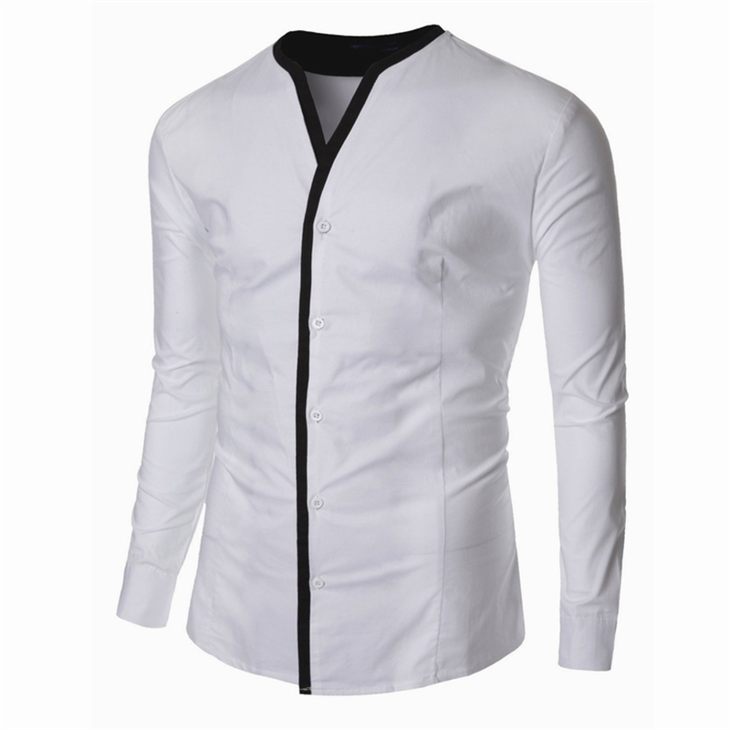 Casual Shirts Long Sleeve Tuxedo Mens Clothing clothes male ...