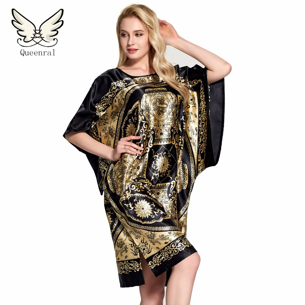 Robe Summer  Floral Robe Women Sleepwear nightwear Home Clothing Bathrobe Night dress Home Gown sexy Sleepwear Nightgown