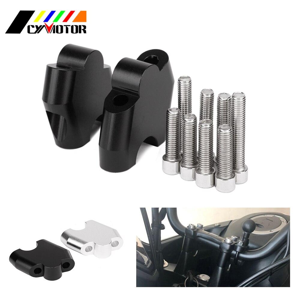 Motorcycle CNC Aluminum HandleBar Clamp Riser Adaptor For NC700S NC700X NC750X CB500X NC CB 700S 700X 750X 500X