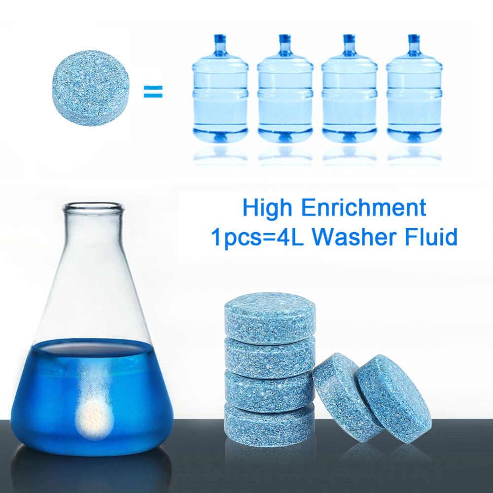 10 قطعة = 40L المياه سيارة الزجاج الأمامي غسالة نظافة المدمجة فوارة أقراص المنظفات سيارة الجمال أداة اكسسوارات السيارات