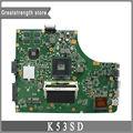 Para asus k53sd rev 5.1 laptop motherboard hm65 ddr3 2 gb gt610m a53s x53s k53s mainboard original 100% testado