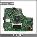 Para asus k53sd rev 5.1 placa madre del ordenador portátil hm65 ddr3 2 gb gt610m a53s x53s k53s mainboard original 100% probado