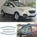 4pcs New Smoked Clear Window Vent Shade Visor Wind Deflectors For Peugeot 3008
