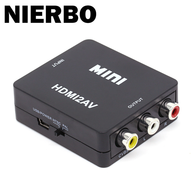 Home Mini Composite 1080p Hdmi To Rca Audio Video Av Cvbs Adapter Converter Av/rca To Hdmi Vedio Converter Connector Adapter For Tv