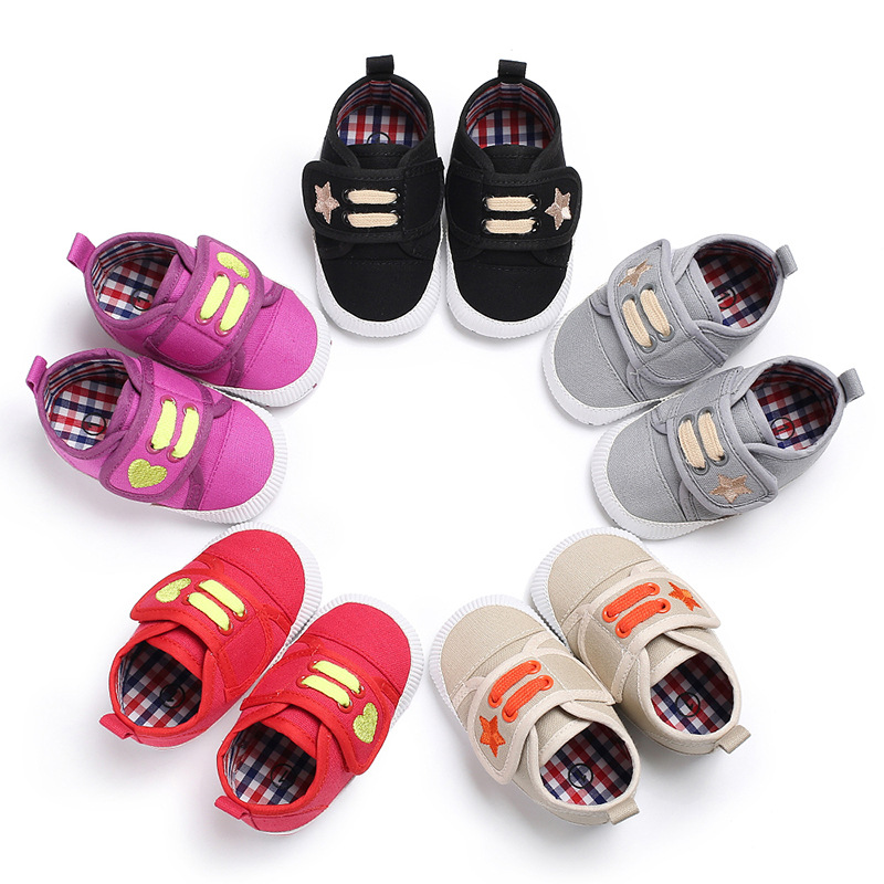 Spring And Autumn 0-1 Years Old Men And Women Baby Canvas Casual Soft Bottom Shoes Baby Toddler Shoes