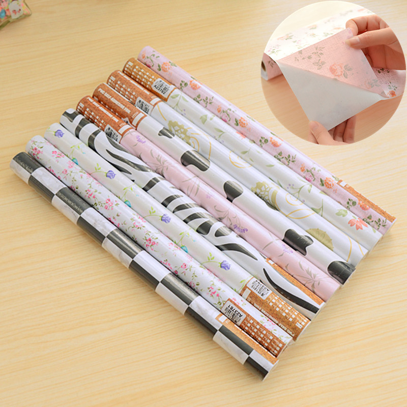 New Self-adhesive bedroom wallpaper moisture-proof drawer cabinets pad non-woven wall paper roll Wall covering home decor beibehang lovely abc print kid bedding room wallpapers ecofriendly fantasy non woven wall paper children mural wallpaper roll