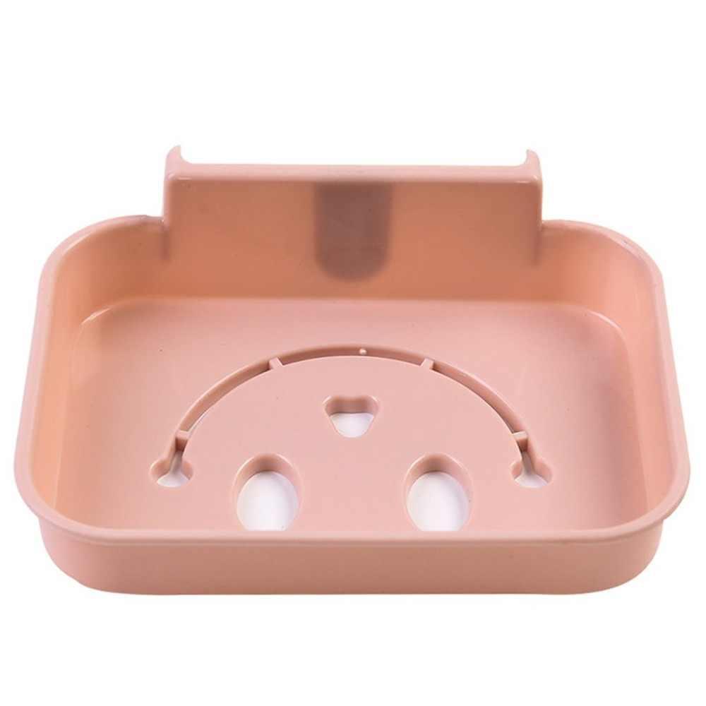 Modne nowoczesny dom łazienka mydelniczka stojak na silne ssania typu kubek mydło taca koszyk organizator dropshipping