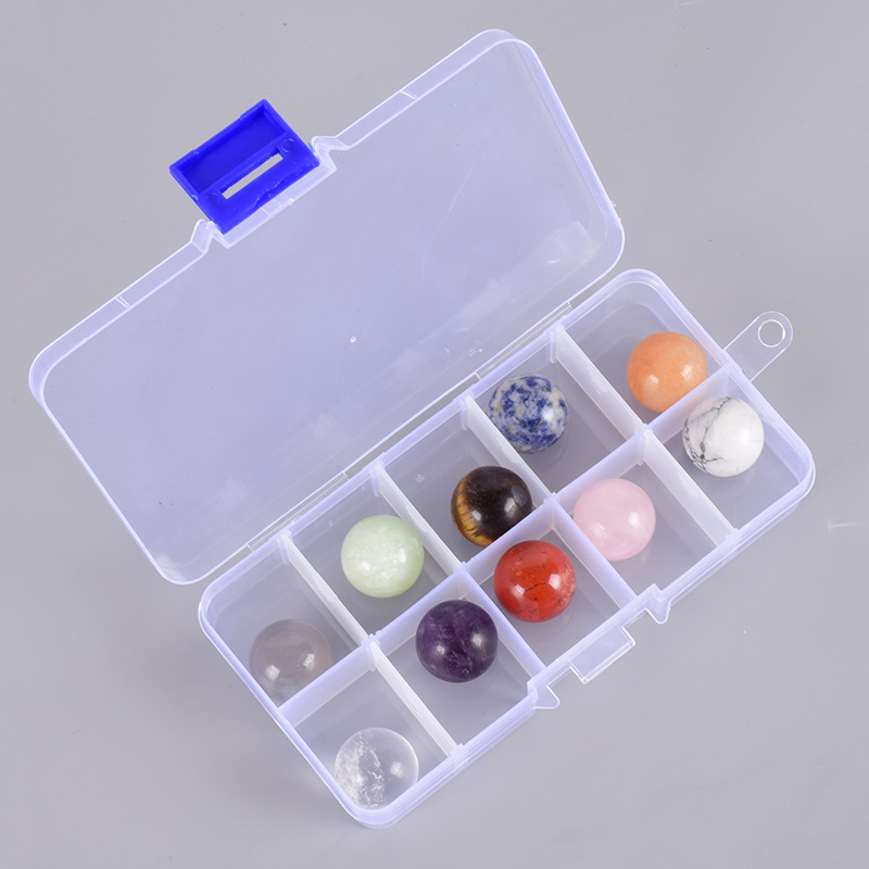 10 Pcs/box Crystal Balls Natural Gemstone Sphere 20mm Undrilled Stones Bead Rock Mineral Healing Meditation For Feng Shui Decor