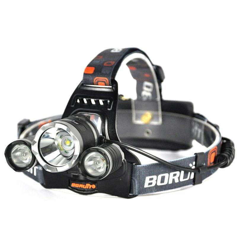 Boruit RJ-3000 3LED Headlamp headlight High Lumens (7)