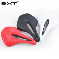 2017 New Cycling Saddle MTB Seat Mountain Road Bike Leather Saddle Cushion Soft Bicicleta Asiento Bicycle