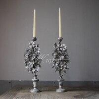 Wedding Ceremony Ivory Pillar Candles Luxury Tealight Tea Lights Candle Decoration Velas De Navidad Christmas Candles 50KO312