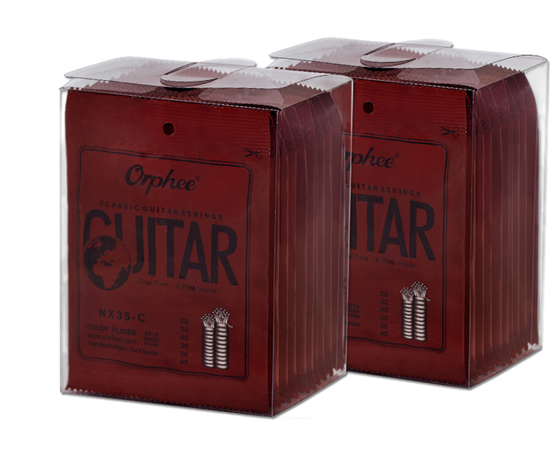 10 Sets Orphee NX35-C Classical Guitar Strings Nylon&Silver Plated Color Wire 1st-6th Strings