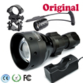 UniqueFire ir flashlight UF-1504 T67 Osram 940nm Tactical Torch Flashlight Lanterna+Pressure Switch+Gun Mount+Charger f. 18650