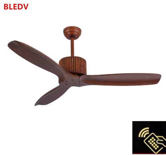 Wholesaleeuropean Modern Wooden Ceiling Fan With Remote Control