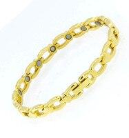 Nieuwe Vriendschap Mode anti-vermoeidheid Armbanden Sieraden Magneet Germanium Armband Gezondheidszorg Gouden Armband Ketting Voor Mannen Of Vrouwen