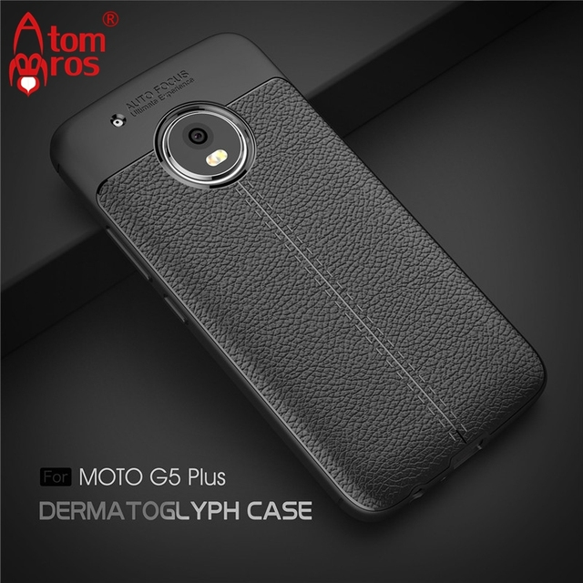 big sale 56d4d ef086 US $3.99  AtomBros for Moto G5 Plus Ultra Thin Litchi Pattern Soft Silicone  TPU Case for Motorola Moto G5 Plus Cover Shell Coque Fundas-in Fitted ...
