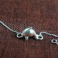 Личности милый большая рыба и Бегония изделий 925 серебряный браслет животных дельфины Браслеты для Для женщин для девочек подарок на день р