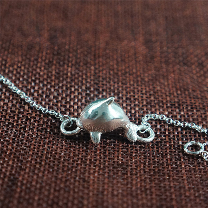 Personality Cute Big Fish & Begonia Jewelry 925 Silver Bracelet Animal Dolphins Bracelets & Bangles For Women Girl Birthday Gift magic fish bracelets