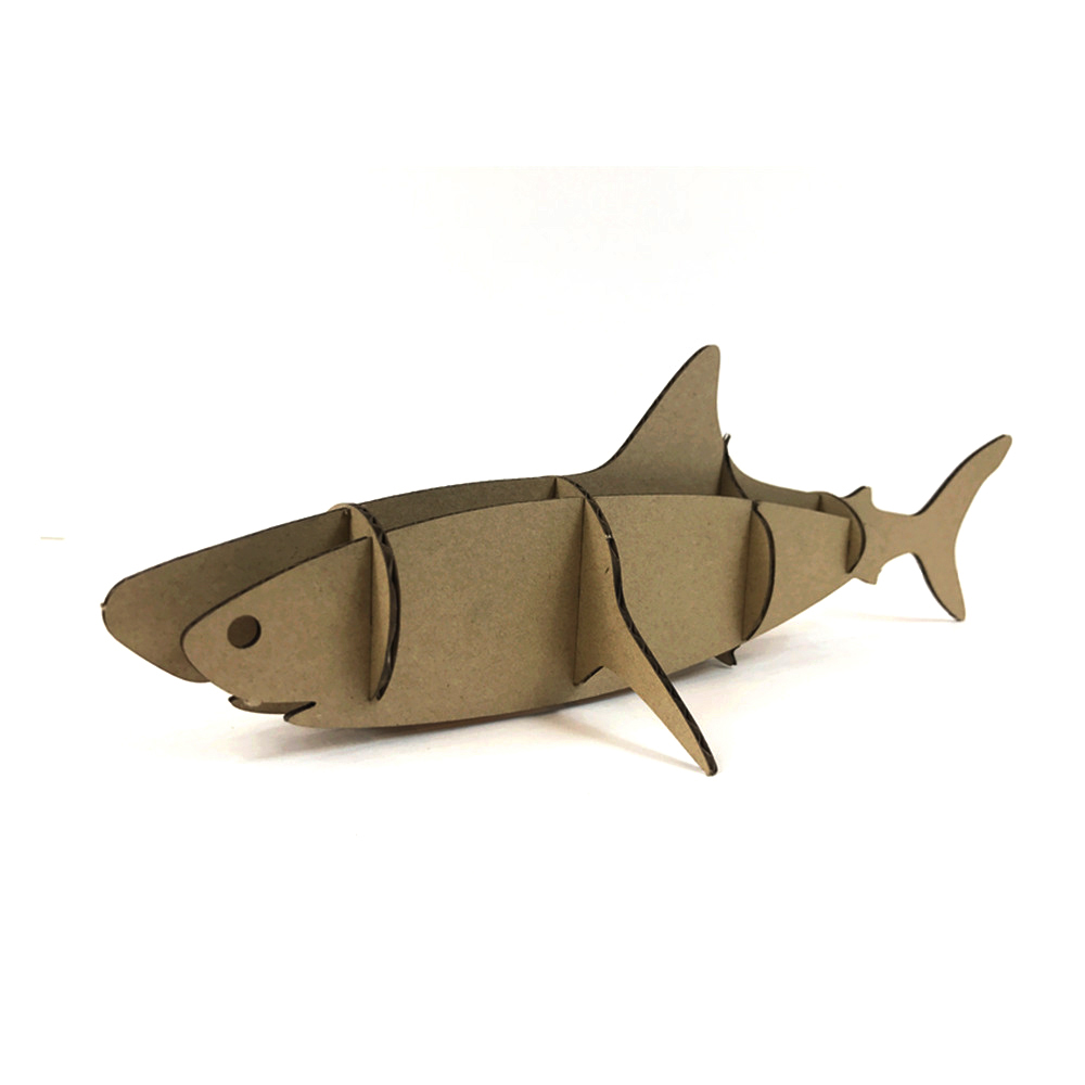 shark d puzzle paper craft sea animal creative kids toy  shark 3d puzzle paper craft sea animal creative kids toy intelligent game play home or nt best gift for children party supply in puzzles from toys