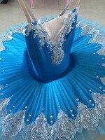 2017 جديد الكبار المهنية الباليه تنورات قصيرة الأزرق الباليه الرقص زي الكبار زي توتو الفتيات الرقص يوتار الباليه اللباس النساء