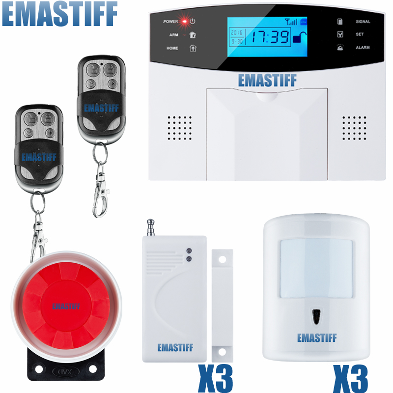 Metal Remote Control Voice Prompt Wireless door sensor Security Home GSM Alarm systems LCD Display Wired Siren Kit 7 Wired Zone thyssen parts leveling sensor yg 39g1k door zone switch leveling photoelectric sensors