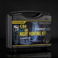 2018 NITECORE белый + синий свет CREE XP G2 светодиодный CB6 Ночная охота комплект Шестерни охоты правоохранительных органов Militar фонарик наборы фонаре