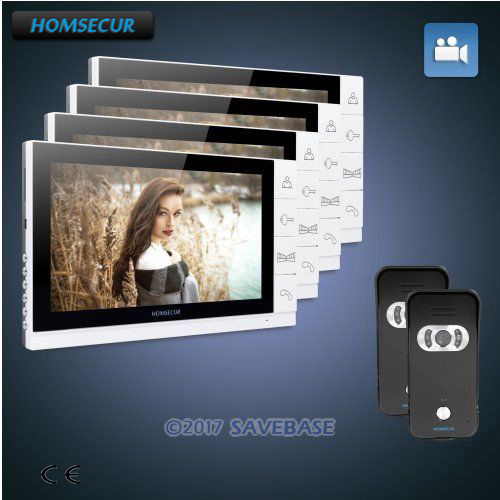 HOMSECUR 9 Hands-free Video Door Phone Intercom System+IR Night Vision 2C4M