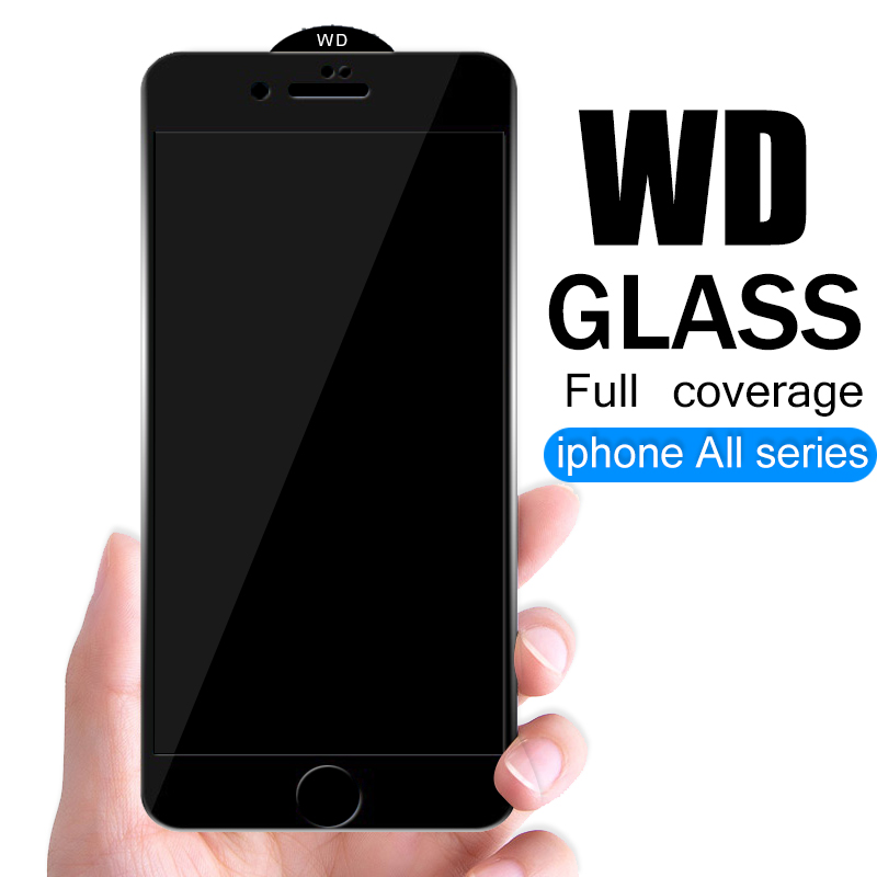 WD Full Coverage Protective Glass For IPhone 6 6S 7 8 Plus X XR XS Glass On Iphone 7 8 6 6S Plus X XR XS MAX Screen Protector