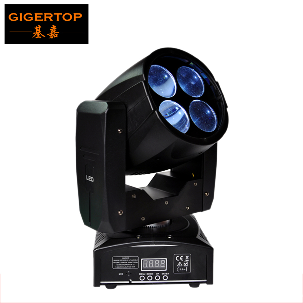 TIPTOP Stage Light Professional LED Super Beam Moving Head Light 4*10W COB White Color Led Double 4 Head Rotate Lens Disco Dj