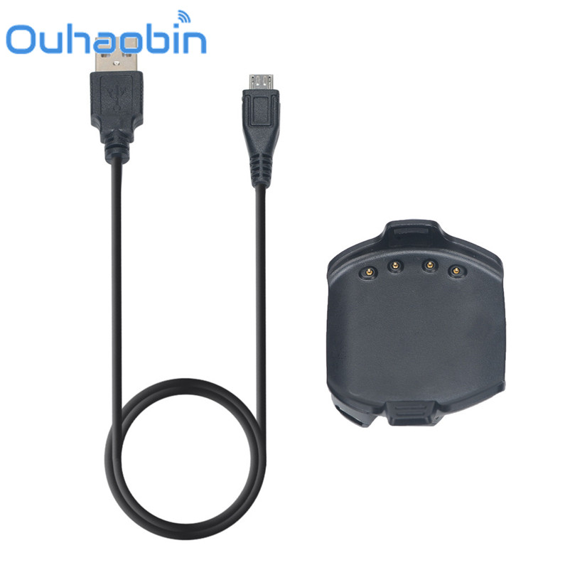 Ouhaobin 1M USB Dock Charger Charging Data Cable For Garmin Approach S2 S4 GPS Golf Watch Gift Oct 20 Dropship