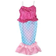 The Little Mermaid Dresses Kids Girls Princess Cosplay Halloween Costume