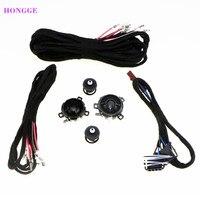 HONGGE Rear Door Loudspeaker Tweeter Car Speaker And Cable Wires For VW Golf GTI MK5 MK6 Jetta MK5 Rabbitt Scorocco 5KD 035 411A