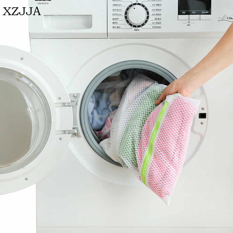 XZJJA Favo De Mel Malha Saco de Roupa Suja a Roupa Suja Organizador Meias Sutiã Cueca Com Zíper Protetor Caso Net Para Máquinas De Lavar Roupa