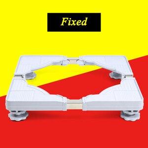Image 3 - Suporte móvel para máquina de lavar, suporte ajustável para base móvel para geladeira universal
