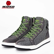 2017 Summer New SCOYCO motorbike boots Shoes Biker tools protecting boot shield Anti wrestling Ventilation manufactured from Canvas