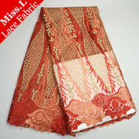 French lace fabric Net Lace High Quality African Tulle Lace Fabric Embroidery With Stones Mesh Lace Fabric For Wedding Dress