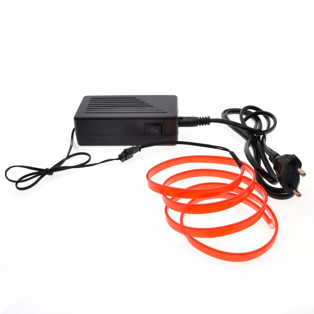 10M/20M/30M/50M 220v  EL Wire lights 6mm Sewing Edge Neon TV Lights Dance Party Car Decor Light Neon LED lamp strips Flexible akg pae5 m