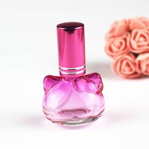 Image 3 - 1 pc 10 ミリリットルカラフルなガラスの香水瓶スプレー詰め替えアトマイザー香りボトル包装ボトル 5 色