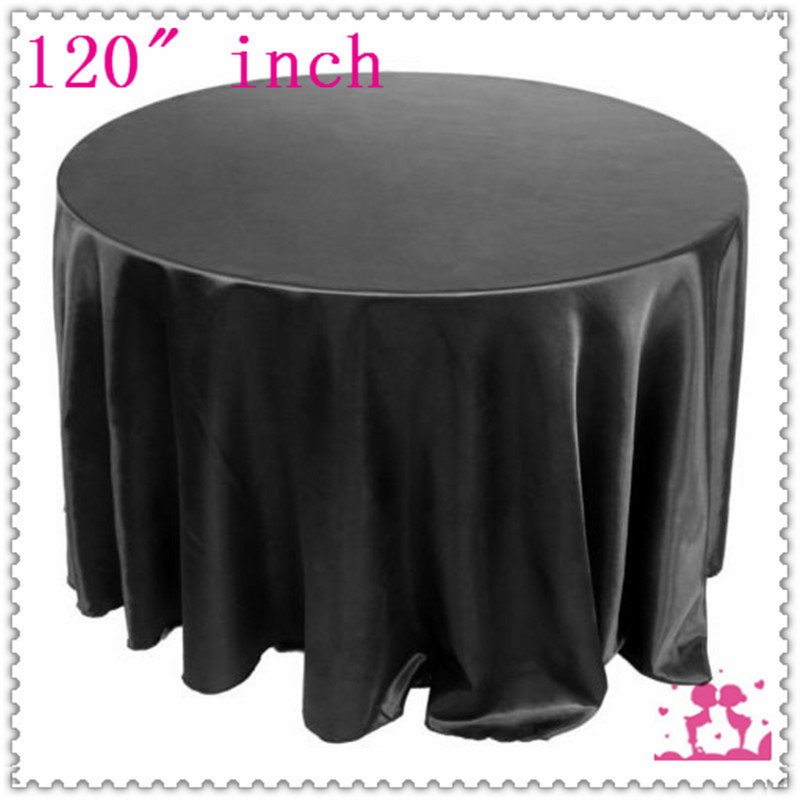 10pcs 120 39 39 round satin tablecloths for weddings table for 120 round table cover