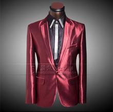 Gold red 2017 summer blazer single button slim font b men b font font b suit