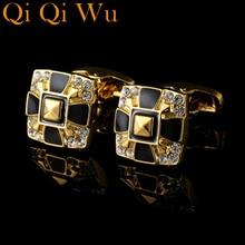 Shirt Cufflink Luxury Jewelry Button Gold High-Quality Men for Brand Abotoaduras