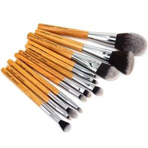 Image 3 - Набор кистей для макияжа vela.yue, 12 шт., без жестокости, полнофункциональный, для лица, щек, глаз, губ, набор инструментов для красоты с чехлом